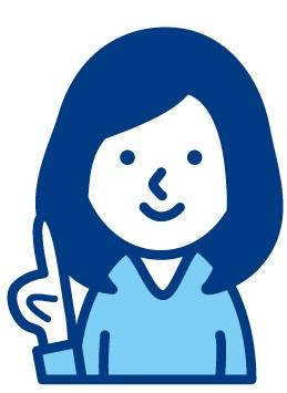 人差し指を立てる女子の絵