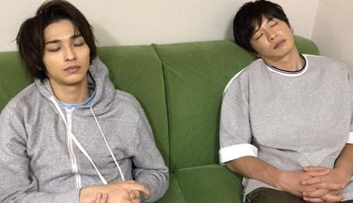 横浜流星と田中圭の寝顔